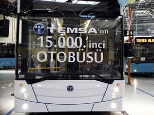 TEMSA, 15 bininci otobüsünü hizmete sundu