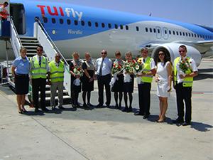 TUIfly Nordic'in Gazipaşa Havalimanı'na ilk seferi gerçekleşti