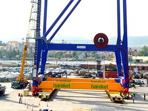 Hareket Proje, Türkiye'nin en büyük liman vincini taşıdı