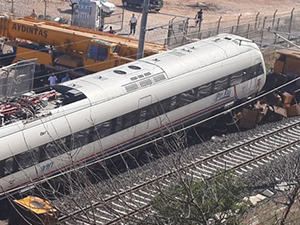 Yüksek Hızlı Tren test sürüşünde kaza yaptı
