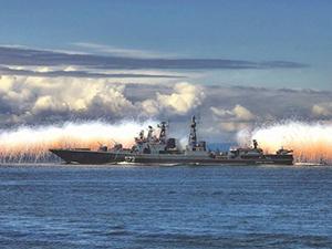 Rus gemilerinden karşı tatbikat