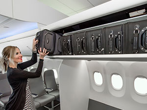 Boeing yeni baş üstü dolaplarını tanıttı