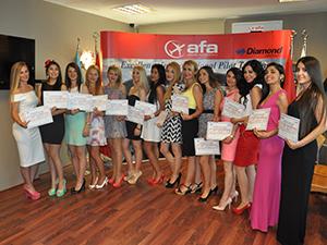 AFA kabin memurlarının mezuniyeti gerçekleşti