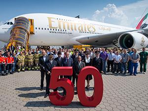 Emirates 50. A380'i filosuna ekledi