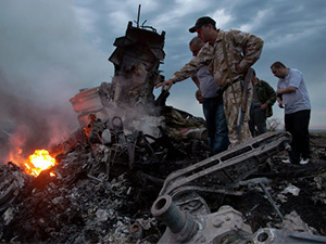 AGİT gözlemcileri Ukrayna'da düşen uçağı inceledi