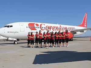 Akdeniz Üniversitesi Kadın Hentbol Takımı, Rotterdam'a Corendon ile uçtu