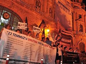 Kadıköy'de YHT protesto edildi