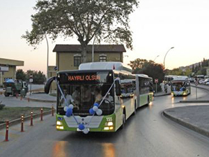 Kocaeli'de bayram süresince toplu ulaşım ücretsiz