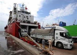 Ro-Ro gemileri 6 ayda 211 bin araç taşıdı