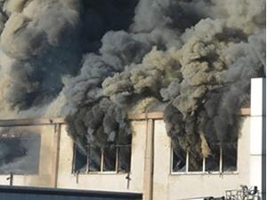Tuzla'da lojistik fabrikasında yangın