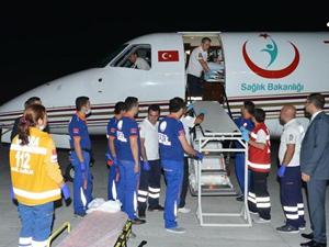 Ambulans uçakların ' Gazze' mesaisi