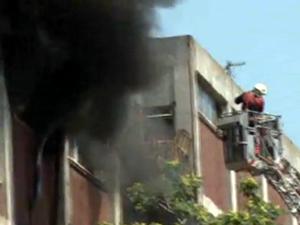 TDİ binasında yine yangın !