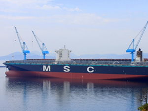 MSC LONDON gemisi Asyaport'u selamladı
