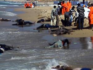 Libya'da  kaçak göçmen felaketi
