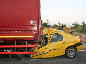 Taksi şoförünün feci ölümü