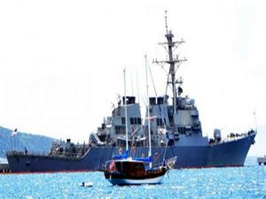ABD gemisi İran gemisine ateş açtı