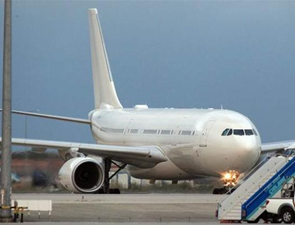 Erdoğan'ın uçağı kırmızı beyaz