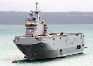 Mistral tipi helikopter gemisi deneme seferini yaptı