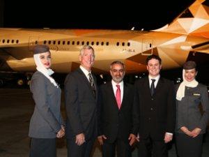 ETIHAD'ın ilk boeıng 787-9 uçağı