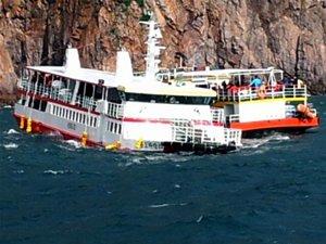 Güney Kore'de yolcu gemisi karaya oturdu