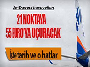 Avrupa'ya uçak bileti 55 Euro!