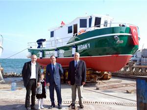 AYDAN 1 atık alım gemisi hizmete girdi