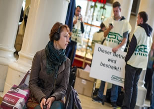 Almanya'da makinistler grevde