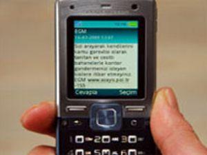 Aynı konuda art arda SMS atan yandı