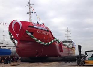 M/T KALAMIŞ -E, Yalova'da Denizle Buluştu