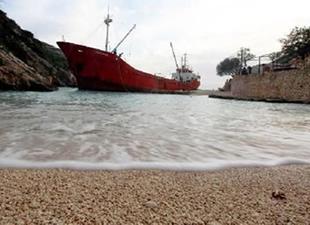 Türk Gemisi Fırtına'da Karaya Oturdu!