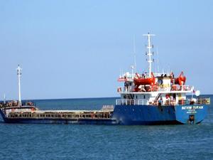 Denize buğday boşaltan gemi Trabzon Limanı'nda krize neden oldu