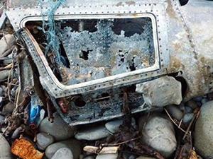 İnebolu'da sahile uçak parçası vurdu