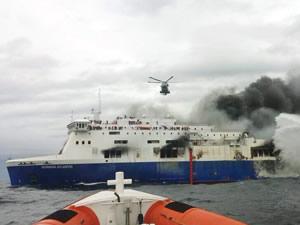 Yanan İtalyan gemisinden kurtarılan Türklerden açıklama