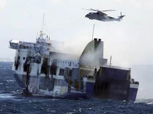 Adriyatik'te yanan feribotta kayıp sayısı 98