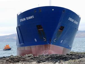 İskoçya kıyılarında karaya oturan M/V LYSBLINK SEAWAYS, yapılan operasyonla kurtarıldı
