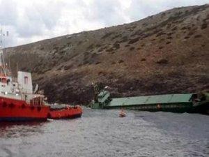 """""""M/V Kerem S"""" adlı kargo gemisi Leros Adası yakınlarında battı"""
