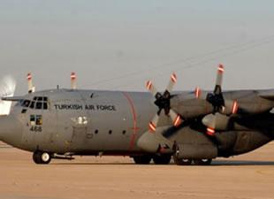 Türk uçakları Bağdat'a indi