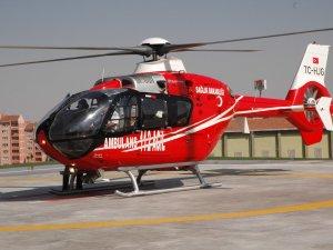 Ambulans helikopterler gece uçuşuna hazır