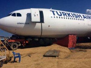 THY uçağı Göbeklitepe kurtarıldı