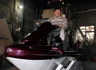 Eskişehir'de otobüs tamircisi jetski yaptı