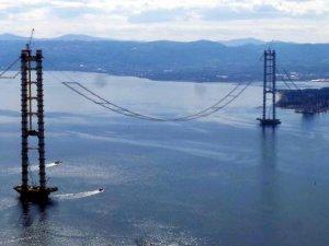 Körfez Köprüsü 'nde silüet ortaya çıkmaya başladı
