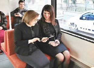Tramvay'da ücretsiz internet