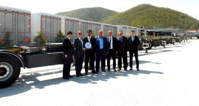 Ergünler, 20 TIRSAN konteyner taşıyıcıyı teslim aldı
