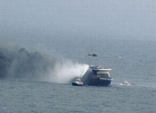 İspanya'da feribotta yangın çıktı
