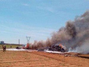 İspanya'da A400M düştü