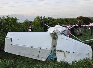 Konya'da sivil uçak düştü