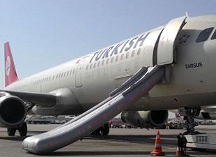 THY uçağında Slide patladı