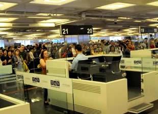 Atatürk Havalimanı'nda arıza kuyruğu