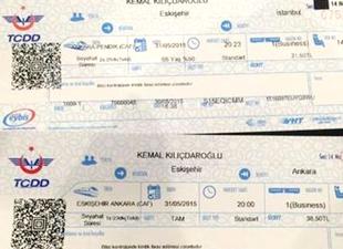 Binali Yıldırım'dan Kılıçdaroğlu'na bilet