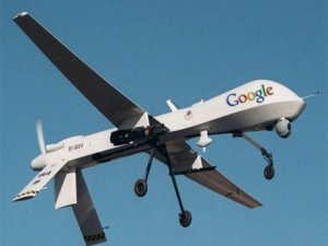Google'a ait drone düştü